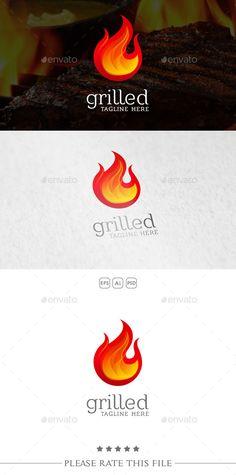 Fire Logo Template PSD, Vector EPS, AI #design #logotype Download: http://graphicriver.net/item/fire-logo/10734519?ref=ksioks