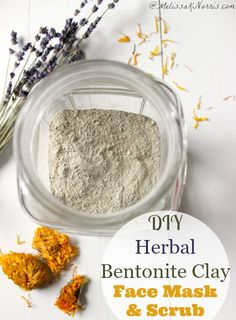 DIY Herbal Bentonite Clay Face Srub or Mask Want an easy natural face scrub and mask? This quick herbal recipe can be used as a scrub or mask. I was hooked after one use. Whips up in minutes and no icky chemicals lurking. Read this now to make your own! Coffee Face Scrub, Diy Face Scrub, Face Scrub Homemade, Homemade Moisturizer, Bentonite Clay Face Mask, Diy Cosmetic, Do It Yourself Inspiration, Clay Faces, Home Remedies For Hair