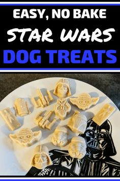 Get creative when making dog treats for your pups by making them Star Wars style. Your dogs will love these easy no bake dog treats with peanut butter. No Bake Dog Treats, Peanut Butter Dog Treats, Star Wars Crafts, Star Wars Decor, Diy Gifts For Dad, Birthday Coffee, Star Wars Cake, War Dogs, Dog Food Recipes