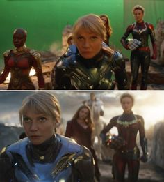 """25 """"Avengers: Endgame"""" Pictures That Show Iconic Scenes Before And After CGI Marvel 3, Marvel Actors, Marvel Movies, Captain Marvel, Female Avengers, Avengers Team, Tony And Pepper, The Infinity Gauntlet, Pepper Potts"""