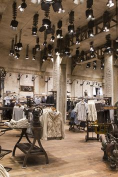 Inside of the All Saints Store. Love!