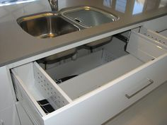 u shaped kitchen sink drawers - Google Search