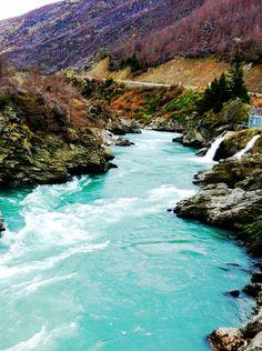Roaring Meg river, Cromwell, south Island, New Zealand