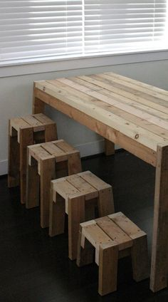 """New Stools Series of stools in different heights, with and without back. """"Real- Stool"""" Searching for comfort. Used wood stools Prototype style stools from used pine."""