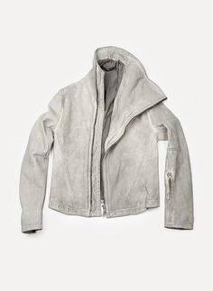 OBSCUR LEATHER JACKET FOG 12AW