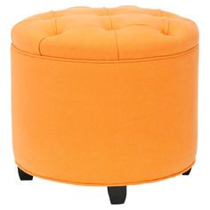 ORANGE you glad you found this ottoman to brighten up your living space ;)