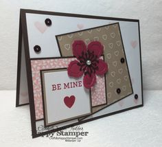 Stampin Up, One Sheet Wonder, Botanical Builders, Bloomin Love, Hearts and Stars Mask