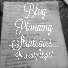 3 Easy Steps to Blog Planning - begin thinking about planning for 2014 now! It's never too early. Staying ahead of the game and on schedule helps you have a better blog year after year!