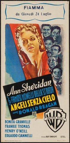"""Movie Posters:Drama, Angels Wash Their Faces (Warner Brothers, 1940s). First ReleasePost-War Italian Locandina (13"""" X 27""""). Drama.. ... Imag..."""