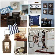 So in love with nautical decor!