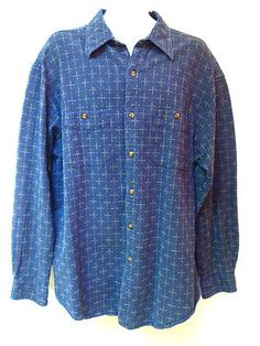 The Territory Ahead Mens Multicolor Geo Print Button Up Cotton Shirt XXL
