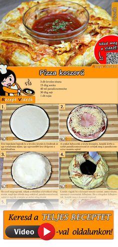 Pizza-Kranz Rezept mit Video - Pizza selber machen/schnelle Rezepte Probiert am Wochenende unser Pizza-Kranz Rezept mit Video! Tasty, Yummy Food, Cooking Recipes, Healthy Recipes, Dessert Drinks, Dinner Recipes For Kids, Winter Food, Deep Dish, Food Videos