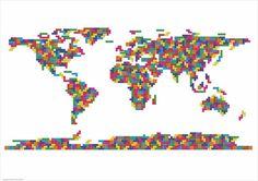 Tetris Map of The World