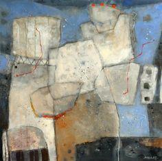 "Nikolaj Dielemans in de #Kunstagenda 2015; ""Verbintenis 1"", acryl op canvas, 80 x 80 cm."