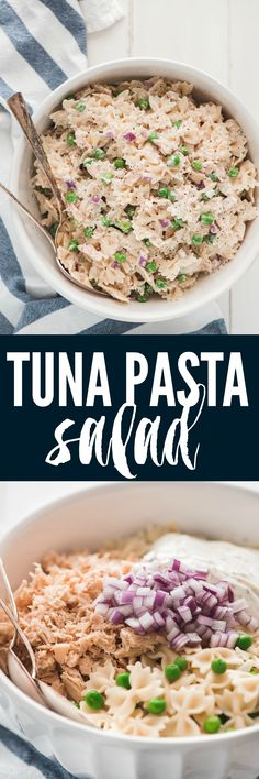 Tuna Pasta Salad is so easy to make and it is packed with protein! If you love tuna fish then you will love this pasta salad!