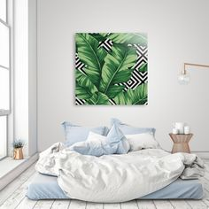 Discover «Banana leaf», Exclusive Edition Acrylic Glass Print by Paola Morpheus #pictures #interiordesign #bedroom #bathroom #dinningroom #bananaleaf #summer #dress #dresses #design #moda #moda2017 #summer2017 #geometric #geometria #foglie #banana #leaf #cameradaletto #arredo #arredamento #green #bio #flower #fiori #piante #natura #nature #plant #deco #idee #ideegreen #wedding #gif #buy #paolamorpheus #artist #living #room #livingroom #italy #beauty #house #housesweethouse #spring #b/n…