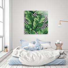 Discover «Banana leaf», Exclusive Edition Acrylic Glass Print by Paola Morpheus #pictures #interiordesign #bedroom #bathroom #dinningroom #bananaleaf #summer #dress #dresses #design #moda #moda2017 #summer2017 #geometric #geometria #foglie #banana #leaf #cameradaletto #arredo #arredamento #green #bio #flower #fiori #piante #natura #nature #plant #deco #idee #ideegreen #wedding #gif #buy #paolamorpheus #artist #living #room #livingroom #italy #beauty #house #housesweethouse #spring #b/n…