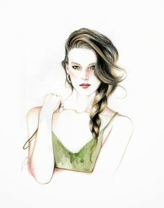Do you like my tight sweater ? - Caroline Andrieu: Nylon beauty illustrations