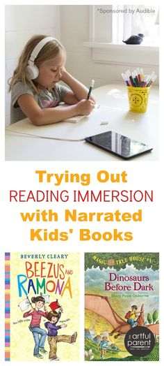 A new Immersion Reading program for kids! There's a transition-to-read feature that highlights the text as it's being read...