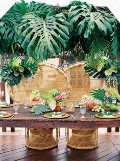 Hawaii Tropical Wedding Reception Hawaii Ideas, Destination Wedding Reception, Hawaiian Wedding Decor, Monstera Wedding Ideas Florals By: Mei Day Tiki Wedding, Tropical Wedding Reception, Beach Wedding Favors, Wedding Centerpieces, Wedding Decorations, Beach Weddings, Tropical Weddings, Centerpiece Ideas, Vintage Weddings