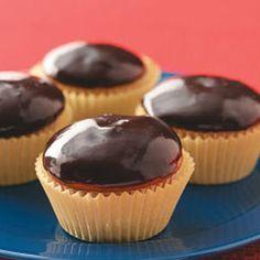 Boston Cream Cupcakes Recipe | Taste of Home Recipes. For pi day.