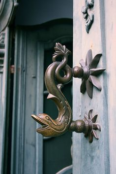 Door handle in Open Air Museum in Detmold: Photo by Ms Cupcake on Flickr #door #handle #Germany