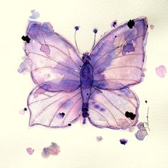 Watercolor Butterfly Print, Original Butterfly Art Print ($20) ❤ liked on Polyvore featuring home, home decor, wall art, backgrounds, butterflies, purple home decor, watercolour painting, paper butterfly wall art, inspirational paintings and textured wall art