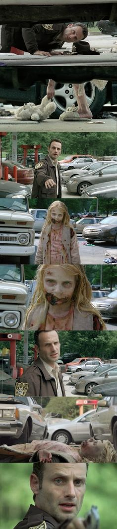 Screen Recap: The Walking Dead Season One Review - Rick Grimes and his encounter with the little girl walker.