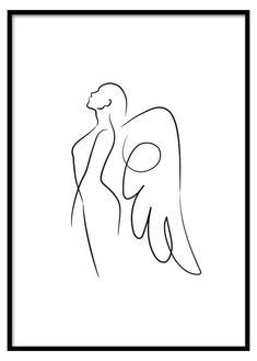 angel drawing simple cute