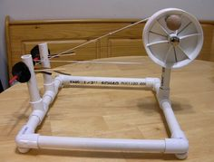 Charkha - side view by stellalunag, via Flickr DIY Spinning Wheel  #goatvet -only a photo, no plans