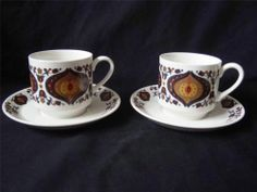 MIDWINTER KISMET CUPS AND SAUCERS x 2 | eBay