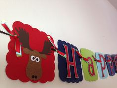Moose Themed Happy Birthday Banner With Name on Etsy, $38.00
