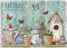 Vintage printable - Shawn D Jenkins Decoupage Vintage, Vintage Diy, Vintage Paper, Vintage Pictures, Vintage Images, Pretty Pictures, Decoupage Printables, Free Printables, Country Paintings