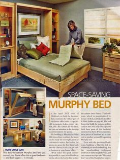 Murphy Bed Plans - Furniture Plans like Furniture Plans, Furniture Making, Home Furniture, Diy Bed Headboard, Hideaway Bed, Space Saving Beds, Modern Murphy Beds, Murphy Bed Plans, Woodworking Bed
