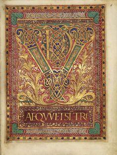 Sacramentaire de Charles le Chauve Préface du canon, monogramme VD du Vere Dignum École du Palais de Charles le Chauve, vers 869-870 BnF, Manuscrits, Latin 1141 fol. 4