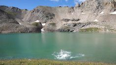 Ice bucket challenge/ Colorado style/ Columbine lake. This is a whole lot colder than a bucket of ice over the head! Just saying! ;)