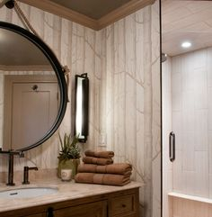 Bathroom ideas on pinterest wood wallpaper small for Forest bathroom ideas