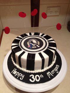 Afl collingwood birthday cake