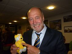 Dickie Guy, President of AFC Wimbledon, backs the Paul Strank Roofing Photothon with Pudsey! #pudseyphotothon #cin #pudsey