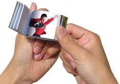Upload a 30 second or less video and you can create a fun flip book for Dad.