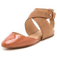 See by Chloe Crisscross Strap Flats ($285) ❤ liked on Polyvore