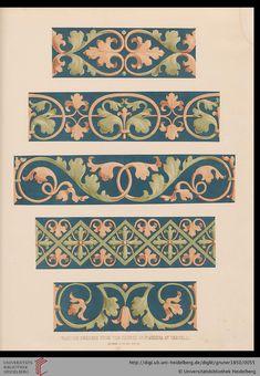 Braun, Emil: Specimens of ornamental art selected from the best models of the classical epochs (London, Border Pattern, Border Design, Pattern Art, Art Nouveau, Doodle Drawing, Islamic Art Pattern, Baroque Art, Byzantine Art, Textile Patterns
