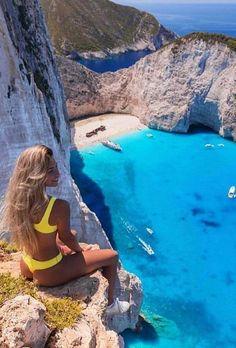 Zakynthos, Greece - 10 Gorgeous Greek Islands You Haven't Heard Of Yet. Vacation Places, Dream Vacations, Vacation Spots, Places To Travel, Places To See, Vacation Packages, Best Honeymoon Spots, Honeymoon Ideas, Zakynthos Greece