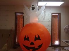 Gemmy Prototype Airblown Inflatable Halloween Animated Turning Ghost 61683 2 | eBay