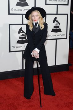 What is she a Pimp? Madonna. The 2014 Grammys Red Carpet