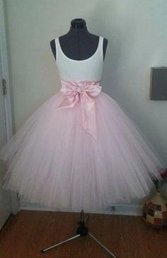 Custom Made Adult PInk Tulle Tutu Style Skirt by JoanneHandmade