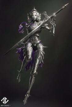 Knight Concept – Iron Maiden, Deiv Calviz (David V… Dark Fantasy Art, Fantasy Armor, Fantasy Character Design, Character Concept, Character Art, Fantasy Monster, Monster Art, Fantasy Inspiration, Character Inspiration
