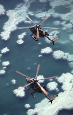 """fiorenn: """"Israeli MD-500 Lahatut helicopters modified with TOW missiles and electro-optical sensor turrets over the Dead Sea """""""