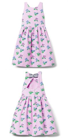 A floral favorite ready to celebrate. Designed with flouncy tulle underlayers, cutout back and striped back bow.  #floraldress #girldress #childrenclothing #afflink