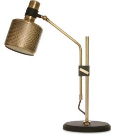 Riddle Table Lamp Single - Brass